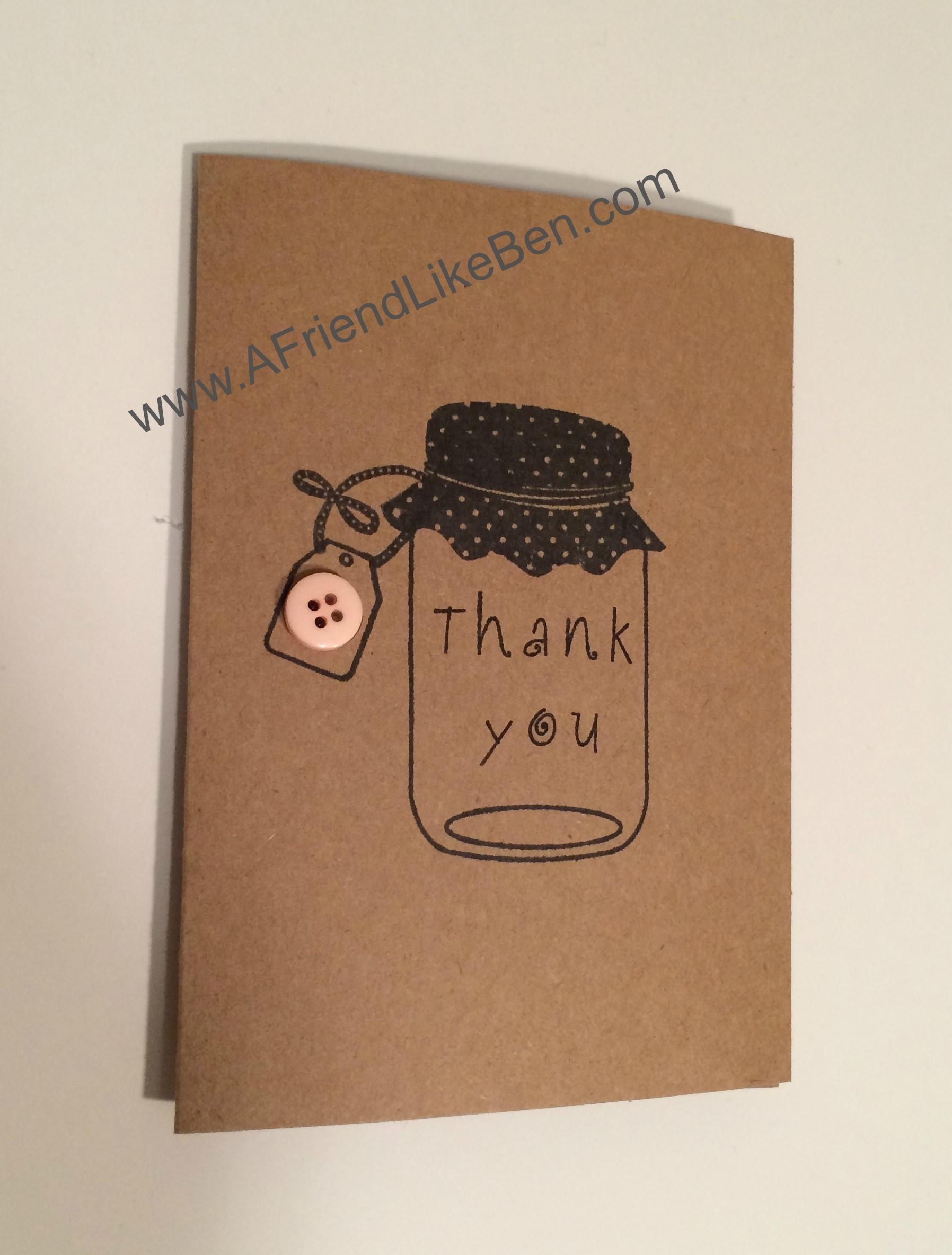 diy hand stamped thankyou cards afriendlikeben