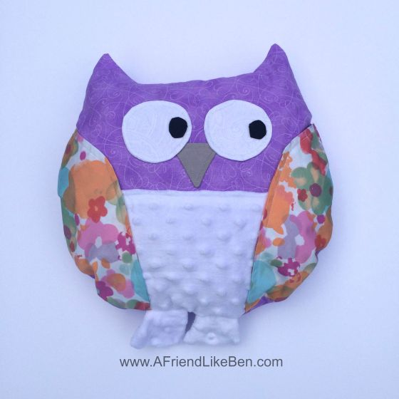 owl pillow watermarked